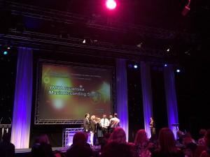 Llongyfarchiadau I @YMCASwansea am ennill wobr gynta'r noson! Congrats for winning the nights 1st award #LoveYWW