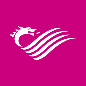 logo senedd pinc