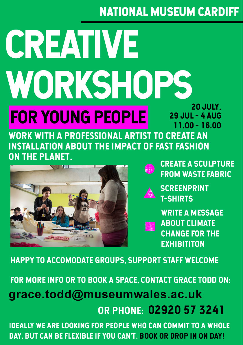 CREATIVE WORKSHOPS FOR YOUNG PEOPLE IN THE NATIONAL MUSEUM WALES
